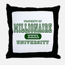 Millionaire University Throw Pillow