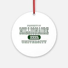 Millionaire University Ornament (Round)