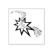 "Bahai Music Square Sticker 3"" x 3"""