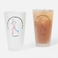 cdhribbonrunwhite Drinking Glass
