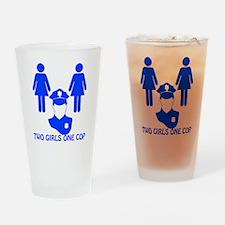 2 girls one cop_dark Drinking Glass