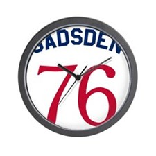 Gadsden 76 - Red And Blue On White Wall Clock