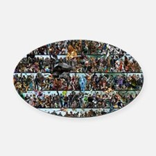 Poster - Completed - 30 X 20 Oval Car Magnet