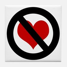 No Heart Tile Coaster