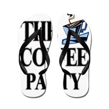 coffee party one Flip Flops