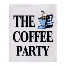 coffee party one Throw Blanket