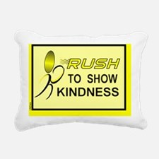 RUSH to Kind..Rec.Mag.-Y Rectangular Canvas Pillow