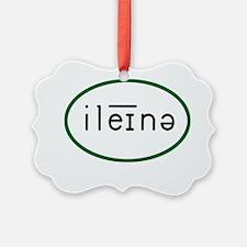Elena Phonetic 10x10_apparel copy Ornament