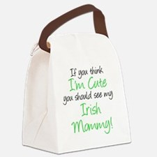 Irish Mommy Handwritten Canvas Lunch Bag