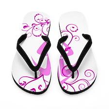 2009 Pink Jasmine 2 Flip Flops