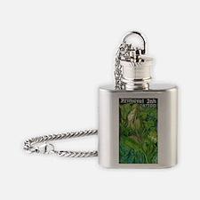 elf girl color 1forblack Flask Necklace
