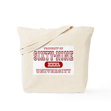 Sixty-nine University 69 Tote Bag