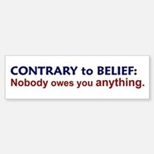 Nobody Owes You Anything Bumper Car Car Sticker
