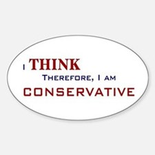 I'm Conservative Oval Decal