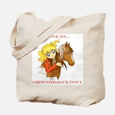 Chincoteague Pony Anime Tote Bag