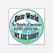 Dear World Sorry Sticker