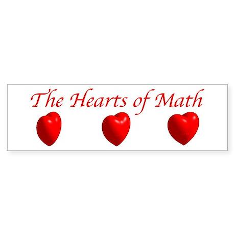 Hearts of Math Bumper Sticker