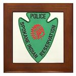 Spokane Tribal Police Framed Tile
