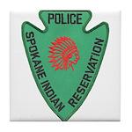 Spokane Tribal Police Tile Coaster
