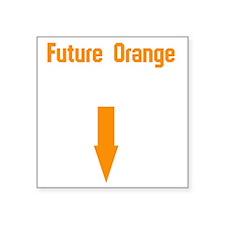 "FutureOrange Square Sticker 3"" x 3"""