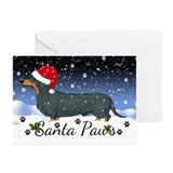 Dachshund christmas Greeting Cards (20 Pack)