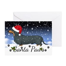 Dachshund Santa Paws Greeting Cards (Pk Of 20)