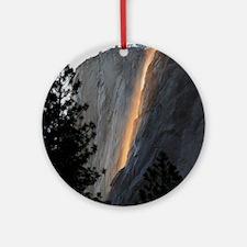 Yosemite Fire Fall Round Ornament
