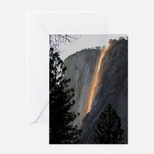 Yosemite Fire Fall Greeting Card