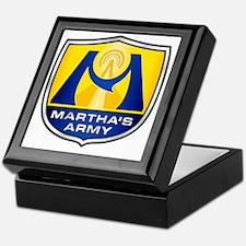 Marthas Army - Blue  Yellow Keepsake Box