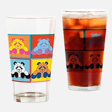 Pop Art Panda Drinking Glass