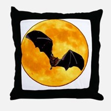 MOONBAT101DK Throw Pillow