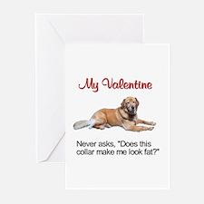 Golden Retriever Valentine2 Greeting Cards (Packag