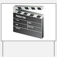 Movie Clapperboard Yard Sign