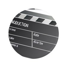 "Movie Clapperboard 3.5"" Button (100 pack)"