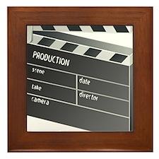 Movie Clapperboard Framed Tile