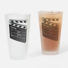 Movie Clapperboard Drinking Glass
