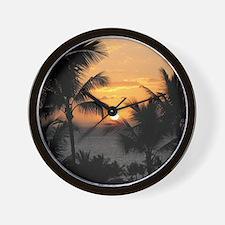 2-WaileaSunset_mug Wall Clock