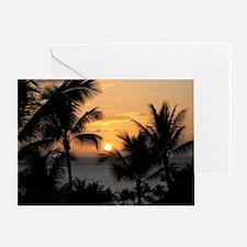 2-WaileaSunset_mug Greeting Card