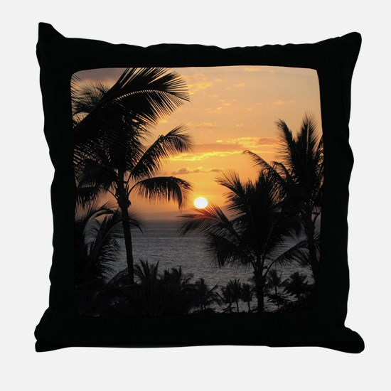 2-WaileaSunset_mug Throw Pillow