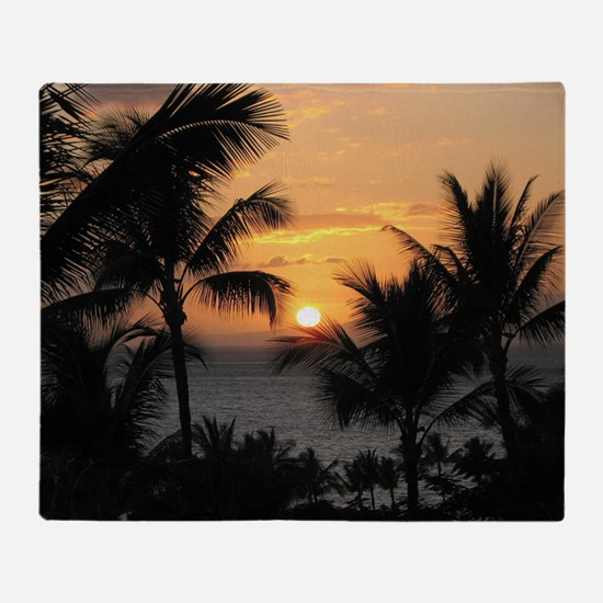 2-WaileaSunset_mug Throw Blanket