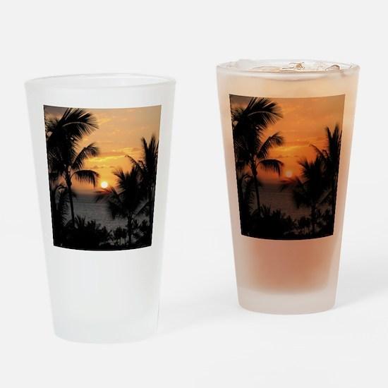 2-WaileaSunset_mug Drinking Glass