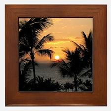 2-WaileaSunset_mug Framed Tile
