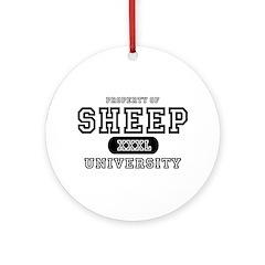 Sheep University Ornament (Round)