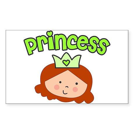 princess red head Rectangle Sticker