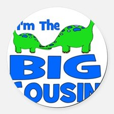 imtheBIGcousin_dino Round Car Magnet