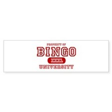 Bingo University Bumper Bumper Sticker