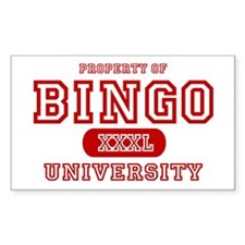 Bingo University Rectangle Decal