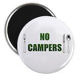 "No Campers 2.25"" Magnet (10 pack)"