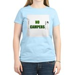 No Campers Women's Pink T-Shirt