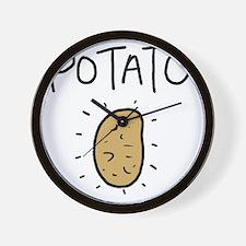 Kims Potato shirt Wall Clock